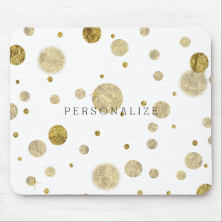 Gold Glam Bokeh Mouse Pad