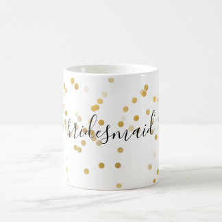Gold Glam Confetti Bridesmaid Coffee Mug