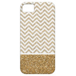 Gold Glam Faux Glitter Chevron Case For iPhone 5/5S