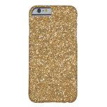 Gold Glam Faux Glitter iPhone 6 Case