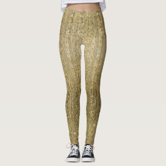 Gold Glam Shimmer Leggings