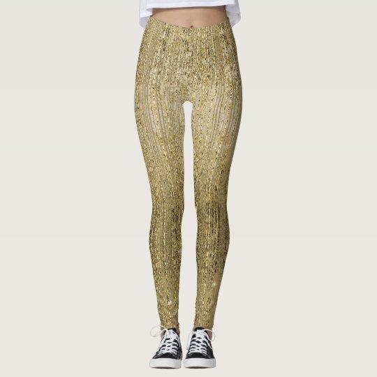 Gold Glam Shimmer Leggings