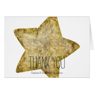 Gold Glam Star Thank you Card