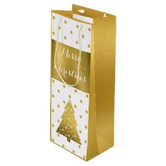 Gold Glam Wine Gift Bag