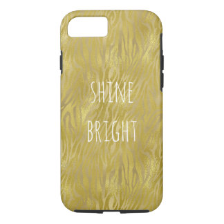 Gold Glam Zebra Print Stripes Shine Bright iPhone 7 Case