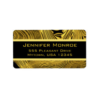 Gold GlamBackground Template Address Label