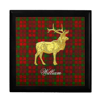 Gold Glass Look Elk Personalize Gift Box