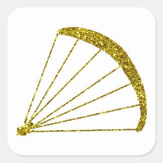 Gold Gleitschirm Sticker