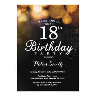 18th birthday invitations announcements zazzle au gold glitter 18th birthday invitation card filmwisefo Images