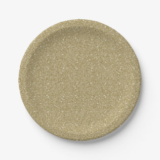 Gold Glitter 7 Inch Paper Plate