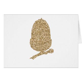 Gold Glitter Acorn Card