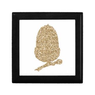 Gold Glitter Acorn Gift Box