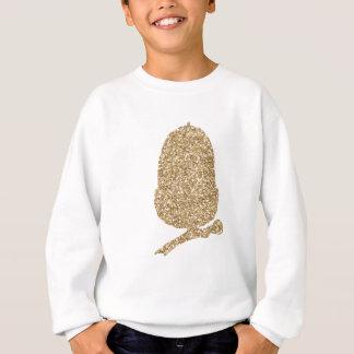 Gold Glitter Acorn Sweatshirt