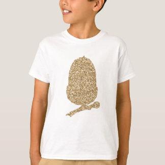 Gold Glitter Acorn T-Shirt