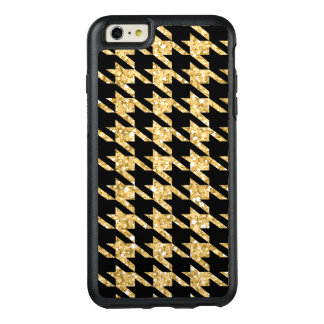 Gold Glitter And Black Houndstooth OtterBox iPhone 6/6s Plus Case