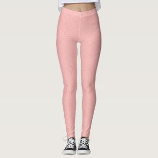 Gold glitter and blush pink diamonds leggings