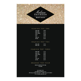 Gold Glitter and Glamour Beauty Salon Flyer