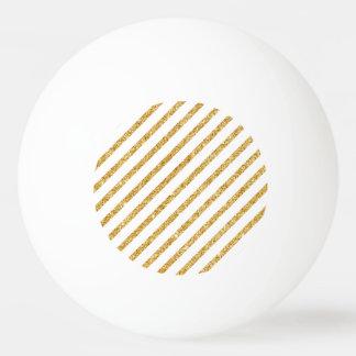Gold Glitter and White Diagonal Stripes Pattern