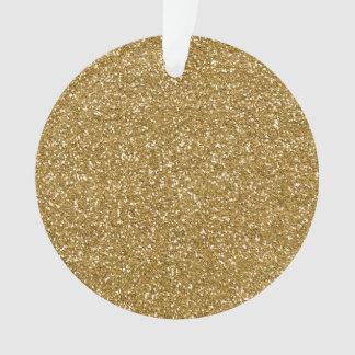 Gold Glitter Background Template Ornament
