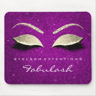 Gold Glitter Branding Beauty Cobalt Pink Lashes Mouse Pad