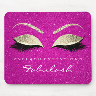 Gold Glitter Branding Beauty Hot Pink Lashes Mouse Pad