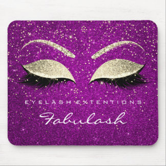 Gold Glitter Branding Beauty Pink Lashes Name Mouse Pad