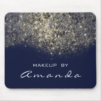 Gold Glitter Branding Beauty Studio Makeup Navy Bl Mouse Pad