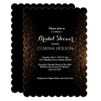 Gold Glitter  Bridal Shower Invitation