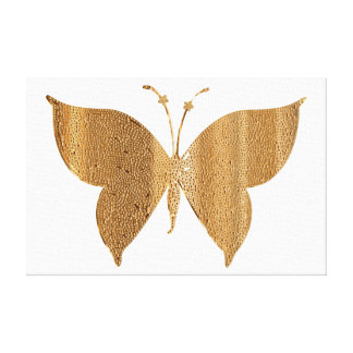 Gold Glitter Butterfly Canvas Picture