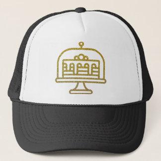 Gold Glitter Cake Trucker Hat