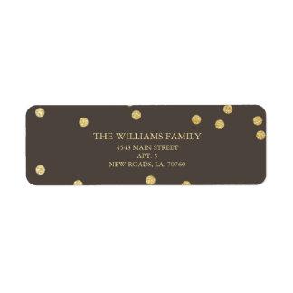 Gold Glitter Confetti Address Labels