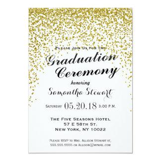 gold glitter confetti graduation ceremony invites - Graduation Ceremony Invitation