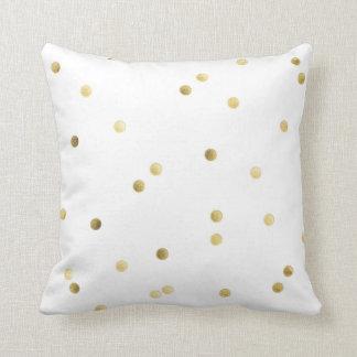 Gold Glitter Confetti Monogram Throw Couch Pillow Throw Cushion