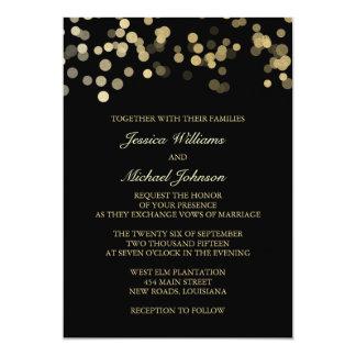 Gold Glitter Confetti Wedding Personalized Announcement