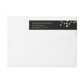 Gold Glitter Confetti Wrap Label