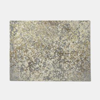 Gold Glitter Crackle Modern Chic Glam Sparkle Doormat