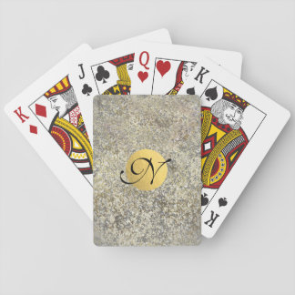 Gold Glitter Crackle Modern Chic Glam Sparkle Playing Cards