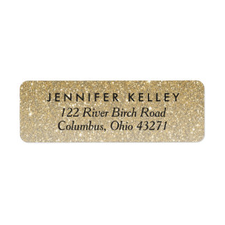 Gold Glitter Custom Address Label II