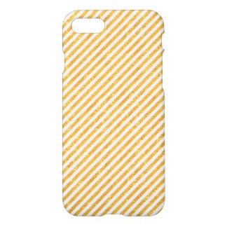 Gold Glitter Diagonal Stripes - iPhone 7 case