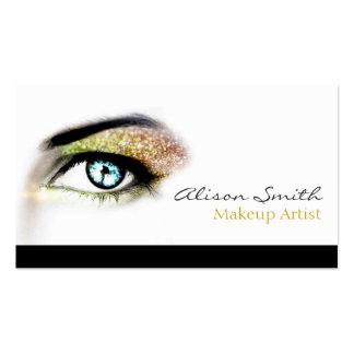 Gold glitter eyeshadow - Makeup Artist Tarjeta Personal