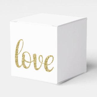 Gold glitter favor box