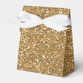 Gold Glitter Favour Box