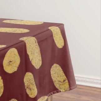 Gold Glitter Finger Prints Tablecloth