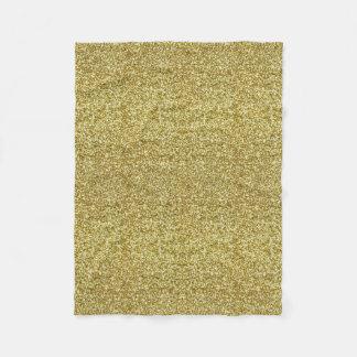 Gold Glitter Fleece Blanket
