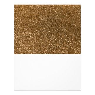 Gold glitter 21.5 cm x 28 cm flyer