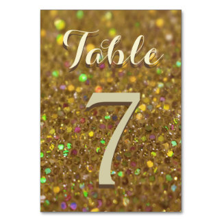 Gold Glitter Glam Card