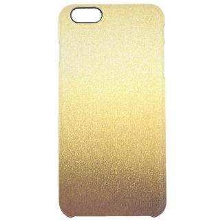 Gold Glitter Gradient Ombre Pattern Transparent Clear iPhone 6 Plus Case
