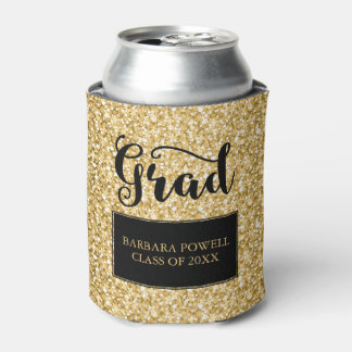 Gold Glitter-Graduation Can Cooler