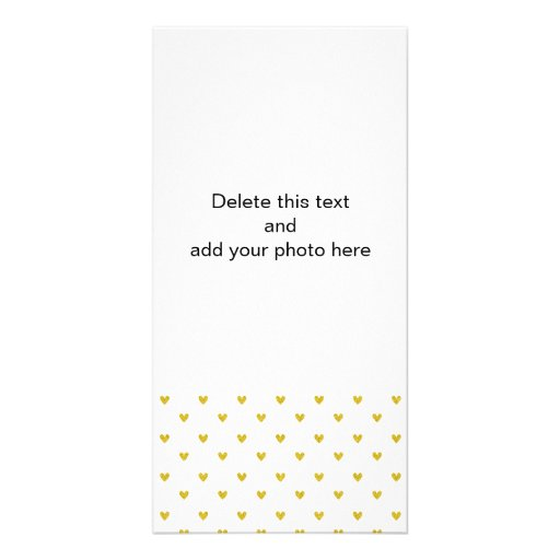 Gold Glitter Hearts Pattern Picture Card