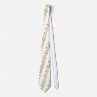 Gold Glitter Ice Cream Sundae Tie